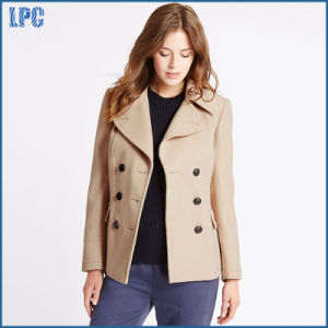 Classic Khaki Uniform Jacket for Women pictures & photos
