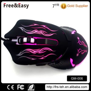 Computer PC USB Wired Optical Dpi 2400 OEM Illuminated Gaming Mouse pictures & photos