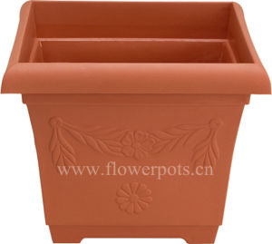 Square Plastic Flower Pot (KD4101-KD4102) pictures & photos