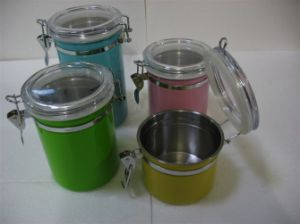 Stainless Steel 4PCS Colorful Canister pictures & photos
