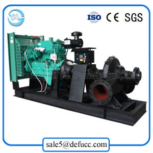 Diesel Engine Double Suction Dewatering Centrifugal Pump pictures & photos