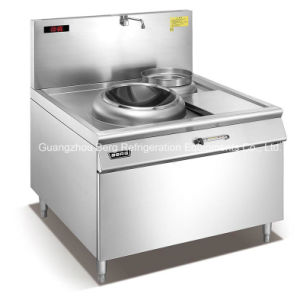 Stainless Steel Chinese Industrial Induction Wok Range with Ce pictures & photos