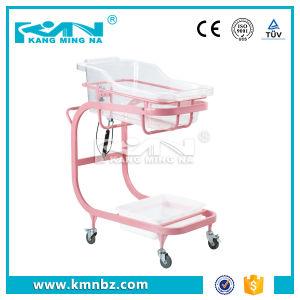 Hospital Steel Coating Baby Cart Infant Bed