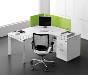 Popular Single Workstation Style Office Desk with Acrylic Partition (SZ-WS674) pictures & photos