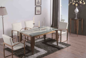 2016 High Quality Dining Table with Steel Frame pictures & photos