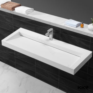 Bathroom Rectangular Composite Stone Resin Wash Basin pictures & photos