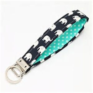 Customized High Quality Fabric Key Chain pictures & photos