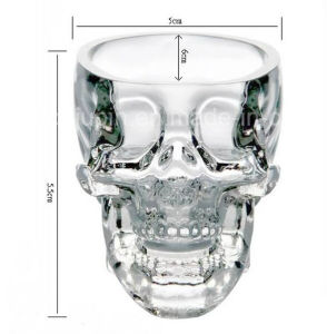 OEM Skull Shape Beer Glass Cup for Pub Supplies pictures & photos