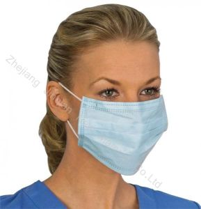 Anti-Bacterial Breathable PP Spunbond Nonwoven Surgical Face Mask pictures & photos