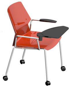 Stacking Movable Study Training Chair with Writing Pad pictures & photos