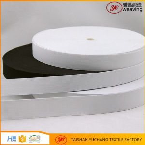 Imported Rubber Factory White Black Crochet Knitted Elastic Band Webbing pictures & photos