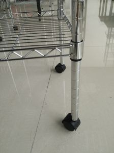 Movable Chrome Gloss Wire Caddie with Three Tiers pictures & photos