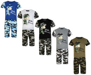 Boys Shorts and T Shirts Set Army Camo Tracksuits (A739)