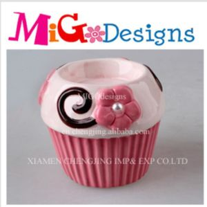 Wholesale Cupcake Ceramic Candlestick Holder pictures & photos
