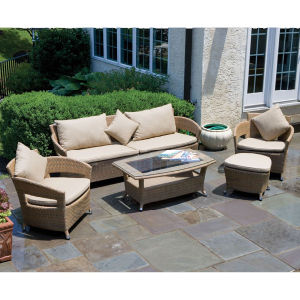Living Room Banquet Outdoor Rattan Patio Furniture Sofa pictures & photos