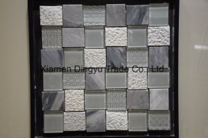 Cheap Water Jet Stone Floor Tile Marble Mosaic pictures & photos