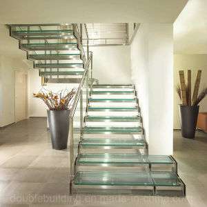 Glass Stairs Interior Staircase Deisgn pictures & photos