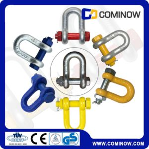 High Tensile Alloy Steel Us Type Bolt Anchor Chain Shackles / G2150 Drop Forged Dee Shackle pictures & photos