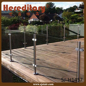 304 Stainless Steel and Wood Inoodr Stair Railing Glass (SJ-633) pictures & photos