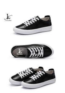Two Color PU Plain Casual Shoes (CAS-028) pictures & photos