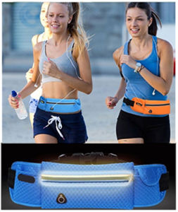 Reflective Waist Pack Polyester Cellphone Waist Pouch Bag for Sports pictures & photos