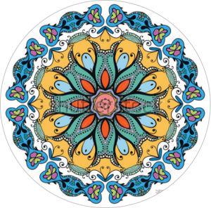 Mandala Round Yoga Mat for Meditation Mat pictures & photos