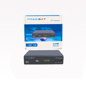 DVB-T2 Terrestrial Receiver HD DVB-T Support USB2.0 Freesat V7 pictures & photos