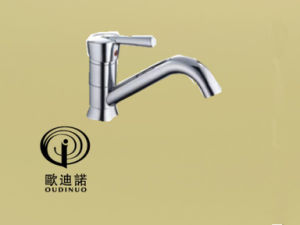 Oudinuo Single Handle Brass Bathtub Faucet 69413-1 pictures & photos