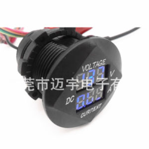 Combination 12V 24V Round LED Digital Volt AMP Meter Ammeter Current Voltmeter for Solar Marine Socket Mount pictures & photos
