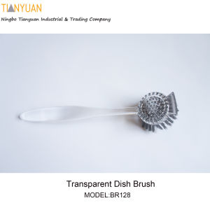 Dish Brush with Tranparent Handle