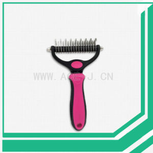 Pet Brush Dematting Comb Grooming Rake Dog Brush pictures & photos