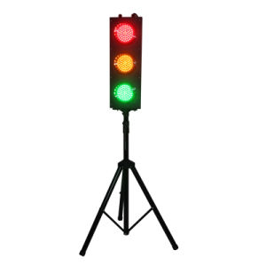 New Parking Lot Mini 125mm LED Traffic Light with Pole pictures & photos