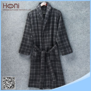 D-043 Wholesale New Design Men Printed Bathrobe
