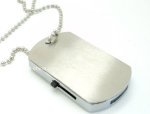 Metal Pendrive Military Dog Tag Shape USB Flash Drive pictures & photos