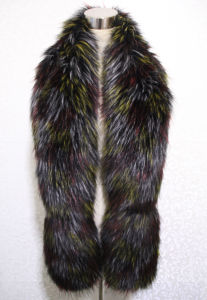 Lady Fashion Colorful Faux Fur Winter Long Scarf (YKY4628) pictures & photos