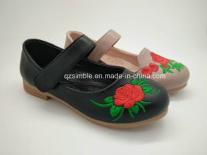 Lovely Children Ballerina Shoes with embroidery  Flowers pictures & photos