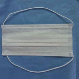 China Manufacture Supply 2ply or 3ply Disposable Es Nonwoven Face Mask with Head-Mounted Earloop pictures & photos