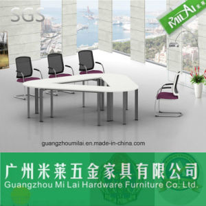 Famous Brand Office Wooden Meeting Table with Steel Furniture Base pictures & photos