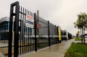 Haohan High-Quality Exterior Security Sliding Wrought Iron Fence Gate 0 pictures & photos