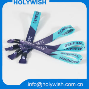 Fashion Bracelet Custom Logo One Time Use Textile Wristband pictures & photos