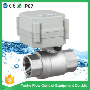 """3/4"""" Dn20 Ss304 NSF61 Electric Ball Motorized Valve DC3.6V with Telephone Line Connector pictures & photos"""
