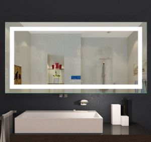 LED Lighted Bathroom Mirror Night Light Wall Clock Mirror pictures & photos