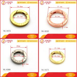 Various Custom Brand Logo Metal Spring Key Ring pictures & photos