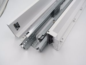 Elegant Metal Box Drawer System, with Silent Concealed Drawer Slides, 84 mm Height pictures & photos