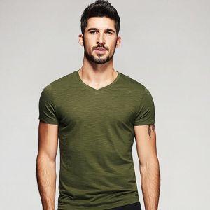 Blank 100% Preshrunk Cotton T-Shirts pictures & photos
