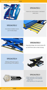 Car Service Station Lifting Equipment Used Hydraulic Scissor Lift (PX12) pictures & photos