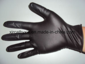 Black Disposable Nitrile Glove with Good Price for Hair Salon