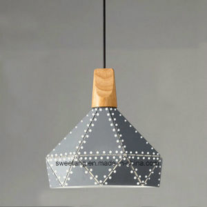 Modern Transparent Wire Aluminium Chandelier Pendant Light with Wood pictures & photos
