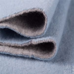 100% Double Sides Cashmere Fabrics for Winter Season in Blue pictures & photos