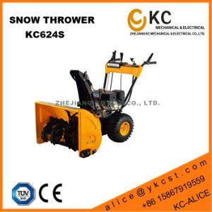 Hardworking Heavy Duty 9HP 252cc Petrol Snow Plow Thrower with Triangle Rubber Track for Sale Used in Winter pictures & photos
